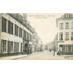 62 SAINT-OMER. Caserne de Rueil rue Carnot avec Buvette Militaire