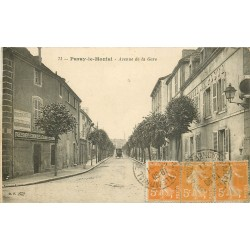 71 PARAY-LE-MONIAL. Avenue de la Gare avec Hôtel de la Poste 1921