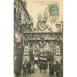 41 BLOIS. Arc de Triomphe rue du Commerce pour les Fêtes 1907