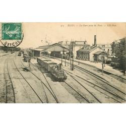 41 BLOIS. Trains dans la Gare et Faubourg de Vienne 1910-1908-1904