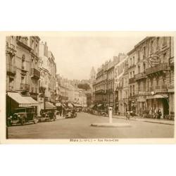 6 Cpa 41 BLOIS. Rue Porte-Côté Hôtel du Château Buvette du Square