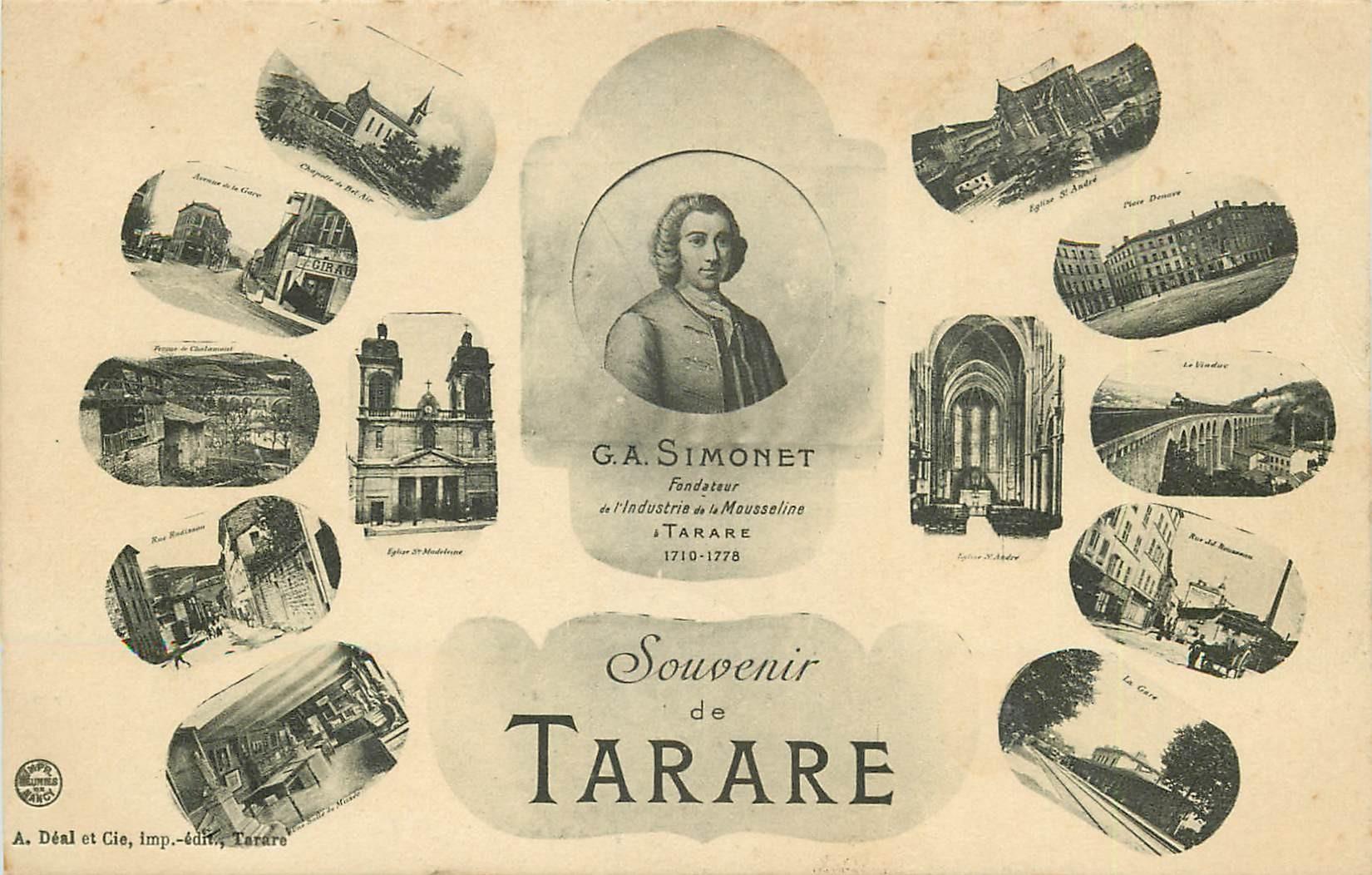 69 TARARE. Simonet fondateur Industrie de la Mousseline