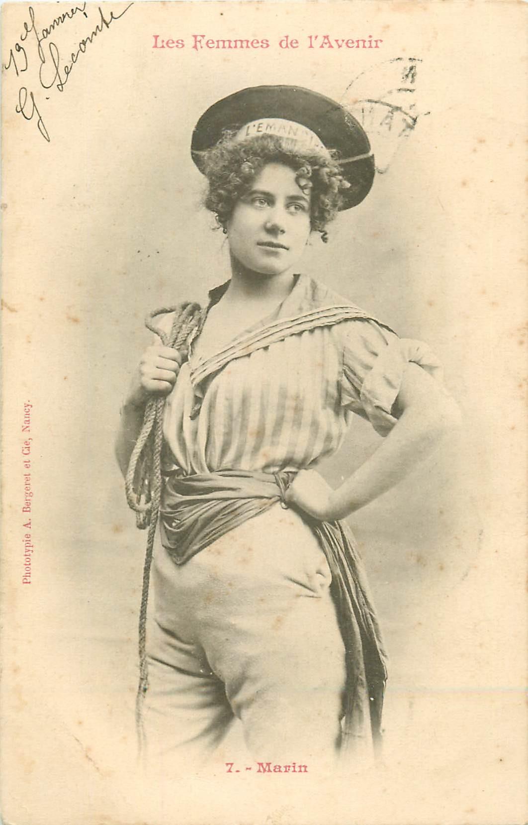 illustrateur BERGERET. Marin les Femmes de l'Avenir 1903