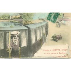 03 MONTLUCON. J'arrive en train 1908