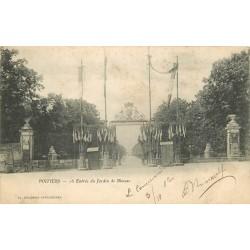 2 x Cpa 86 POITIERS. Jardin de Blossac et Préfecture 1902