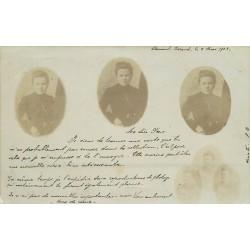 63 CLERMONT-FERRAND. Photo triple de Melle Bach en 1903