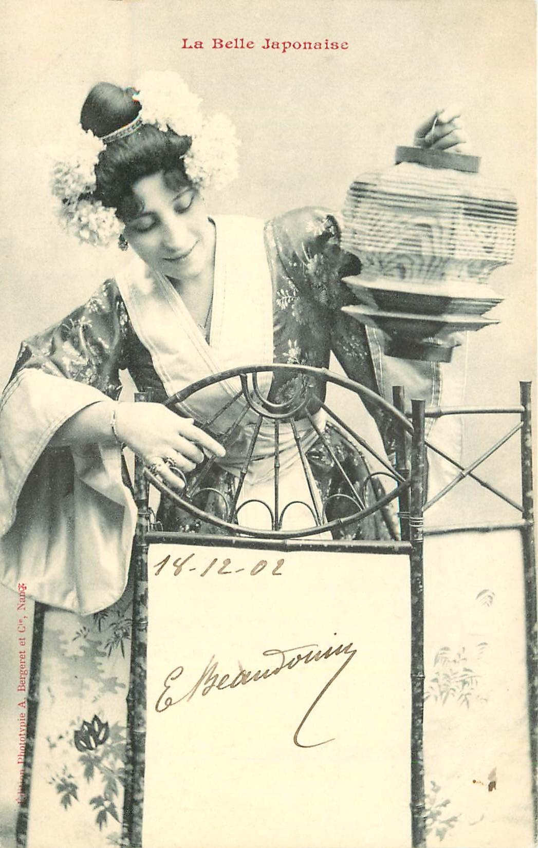 illustrateur BERGERET. La Belle Japonaise 1902