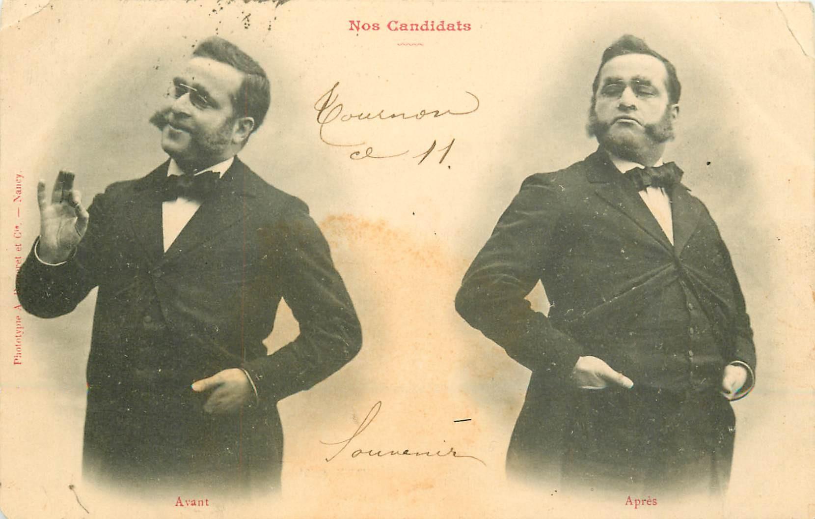 illustrateur BERGERET. Nos Candidats 1903