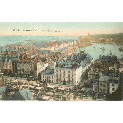 4 Cpa 76 DIEPPE. Casino, Bains, Tourelles Château et Paquebot 1904-1910