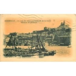 13 MARSEILLE. Bateaux de Pêcheurs dans le vieux Port 1941