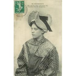 03 EN BOURBONNAIS. Jolie Fille de chez nous avec sa coiffe 1908
