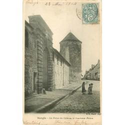77 NANGIS. Ferme du Château et ancienne Prison 1904