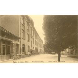 2 x Cpa 78 SAINT-GERMAIN-EN-LAYE. Externat Lycée de Jeunes Filles et rue d'Alsace 1926