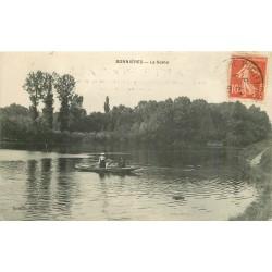 78 BONNIERES SUR SEINE. Ballade en barque sur la Seine