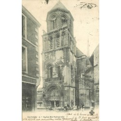 2 x Cpa 86 POITIERS. Eglise Sainte-Radegonde 1902 et Château Eglise de Chauvigny