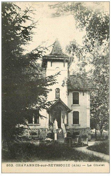 carte postale ancienne 01 Chavannes-sur-Reyssouze. Le Chalet 1945