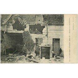 carte postale ancienne 02 SOISSONS. Maison bombardée 1917