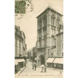 86 POITIERS. Tour Saint-Porchaire rue Gambetta 1919