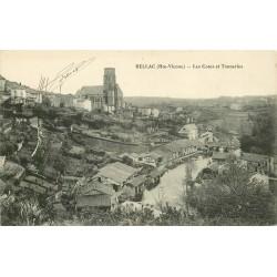 2 x Cpa 87 BELLAC. Tanneries sur les Cotes et Viaduc 1914-1918