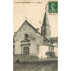 2 x Cpa 87 PIERRE-BUFFIERE. L'Eglise et commerce Laty 1913 & 1907