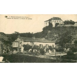 3 x Cpa 87 SAINT-LEONARD-DE-NOBLAT. Moulin de Lartige Château Mureaud, Usine Maqueteau et Pont