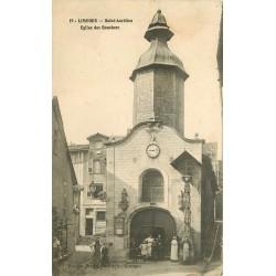 2 x Cpa 87 LIMOGES. Saint-Aurélien Eglise des Bouchers et rue de la Boucherie