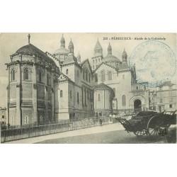 2 x Cpa 24 PERIGUEUX. Abside de la Cathédrale 1914 et les Allées de Tourny 1912