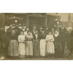 """PARIS 11. Café Restaurant """" Vast """" au 32 rue de la Folie Regnault."""