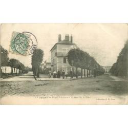 89 JOIGNY. Route d'Auxerre et Avenue de la Gare 1908