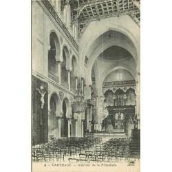 2 x Cpa CARTHAGE. Chapelle et intérieur de la Basilique Primatiale