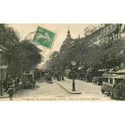 2 x Cpa 75 PARIS. Autobus Boulevard des Italiens 1915 et Grand & Petit Palais 1905