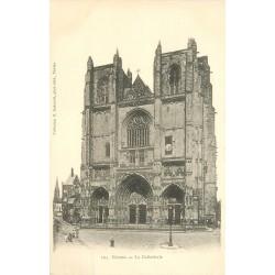 3 x Cpa 44 NANTES. Cathédrale, Tombeau de Lamorcière et la Bourse vers 1900