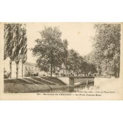 71 ECUISSES. Le Pont Jeanne Rose 1918