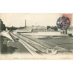 2 x Cpa 92 SEVRES. Manufacture de Porcelaine 1904 et Rue de Versailles 1902
