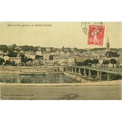 2 x Cpa 92 SAINT-CLOUD. Le Pont 1908 et Parterre du Parc 1904