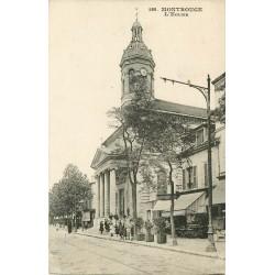92 MONTROUGE. L'Eglise et Terrasse d'un Café