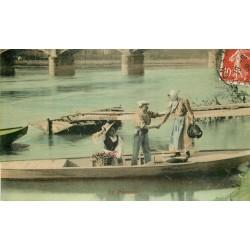 METIERS DE LA MER. Le Passeur en barge 1909