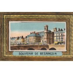 25 BESANCON. Carte à système avec dépliant de 10 vues sous le couvercle 1928
