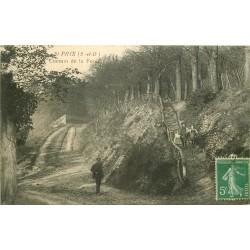 2 x Cpa 95 SAINT-PRIX. Chemin de la Forêt et Choeur de l'Eglise