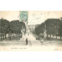2 x Cpa 95 PONTOISE. Rue Thiers 1905 et l'Hermitage 1910