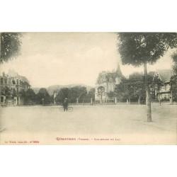 88 GERARDMER. Cycliste sur le Boulevard du Lac 1916