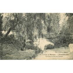 95 FREMAINVILLE. Garde chasse et son chien au Parc du Château 1915