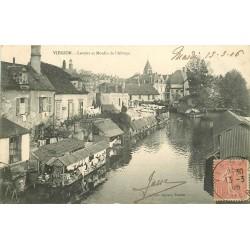 18 VIERZON. Lavoirs et Moulin de l'Abbaye 1906
