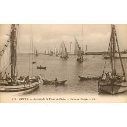 34 CETTE ou SETE. Arrivée de la Flotte de Pêche bateaux Boeufs