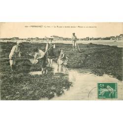 44 PORNICHET. Pêche à la Crevette à marée basse 1911