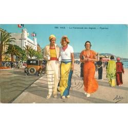 06 NICE. Mode les Pyjamas sur la Promenade des Anglais 1933