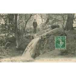 95 VIARMES 3 x cpa Chute d'eau Moulin de Giez avec Château et Panorama 1908
