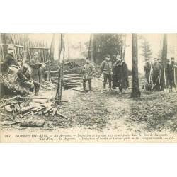 En Argonne inspection de travaux Bois de Vaugais 1915