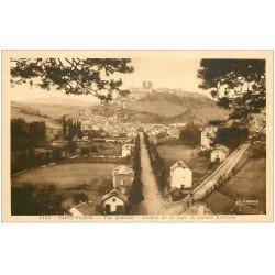 carte postale ancienne 15 SAINT-FLOUR. Avenue de la Gare et de Bellevue vers 1948