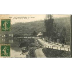 77 NANTEUIL-SUR-MARNE. Le Chemin du Halage 1918